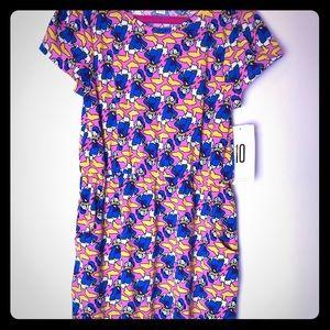 LuLaRoe Disney Mae girls dress size 10